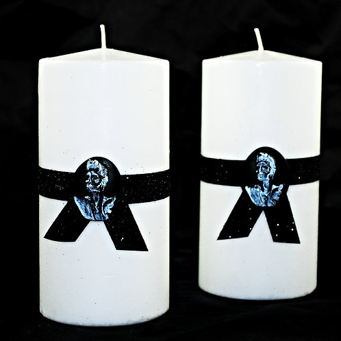 'Rockabilly Elvis' Gothic Style Pillar Candle