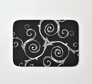 bath mat, Magic Mandala Twisted Triskele