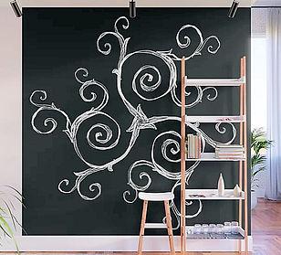 wall mural Magic Mandala Twisted Triskel