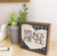 framed mini print, if i had feelings, da