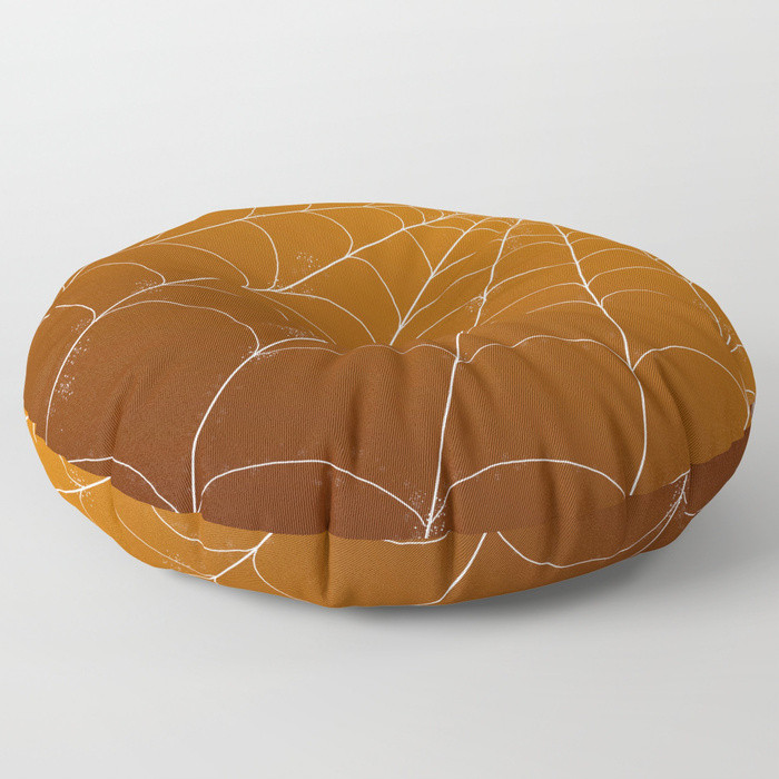 Floor Pillow - Spiderweb in Pumpkin