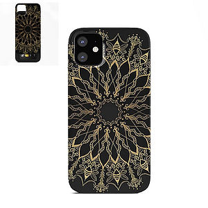 iphone card case, black, gold, bee, mand