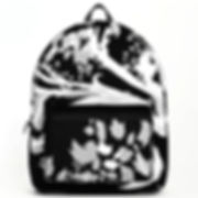 backpack, zen den tree, black, white, tr