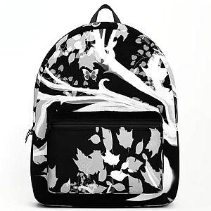 backpack, zen den tree, black, white, tr
