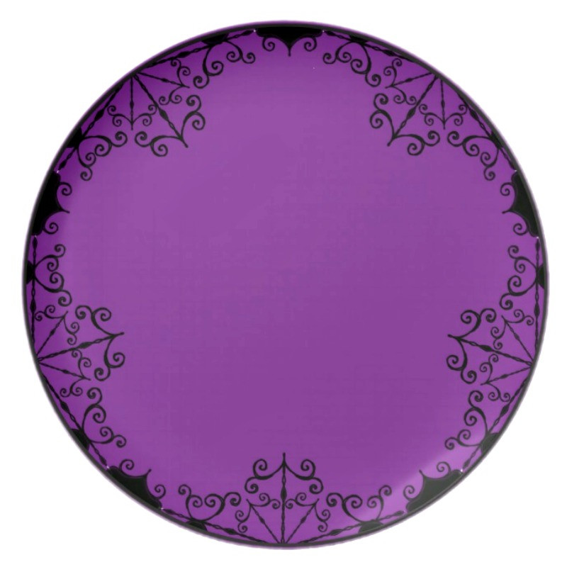 Plate  Burtonesque Victorian Gothic Style in Plum by Dark Decors