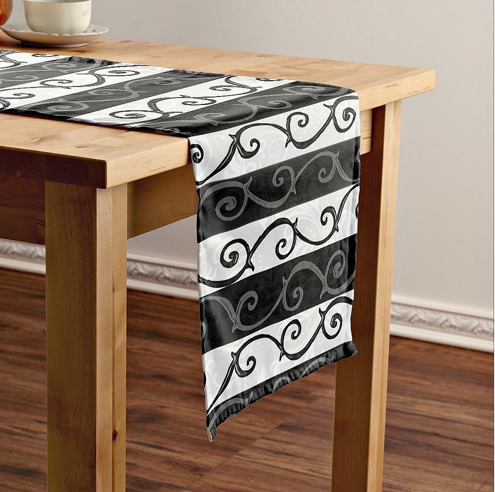 Burtonesque Stripes and Swirls Table Runner