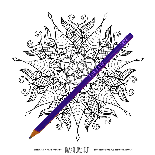 Dark Decors Coloring Book Page (Butterflies)