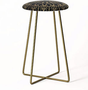 Golden Bee Mandala counter stool dark de