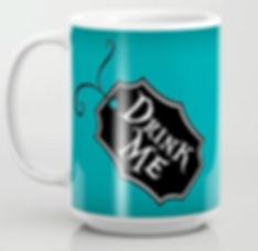 mug, coffee, tea, drink me, alice in won