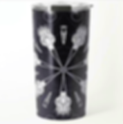 travel mugs halloween mandala of brooms
