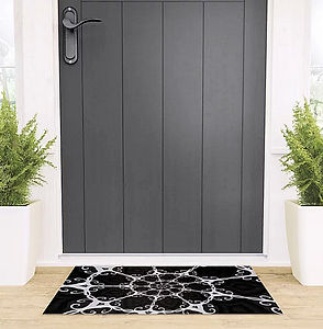 door mat, darkdecors.com, black, white,