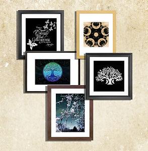 DD Framed Prints, trees, dark decors, wa
