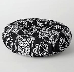 round floor pillow, victorian gothic hol