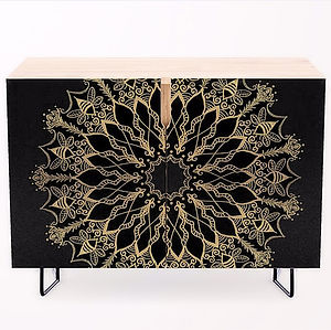 Golden Bee Mandala credenza home decor d