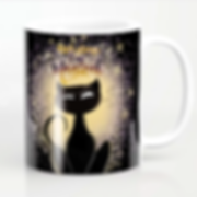 mug coffee black cat halloween magical d