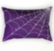 rectangle pillow halloween purple spider