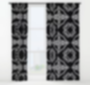 Curtains, drapes, holiday, candy cane pa