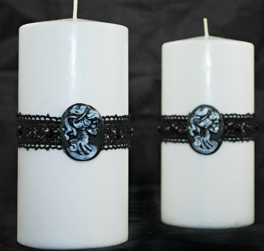 Gothic Style Pillar Candles