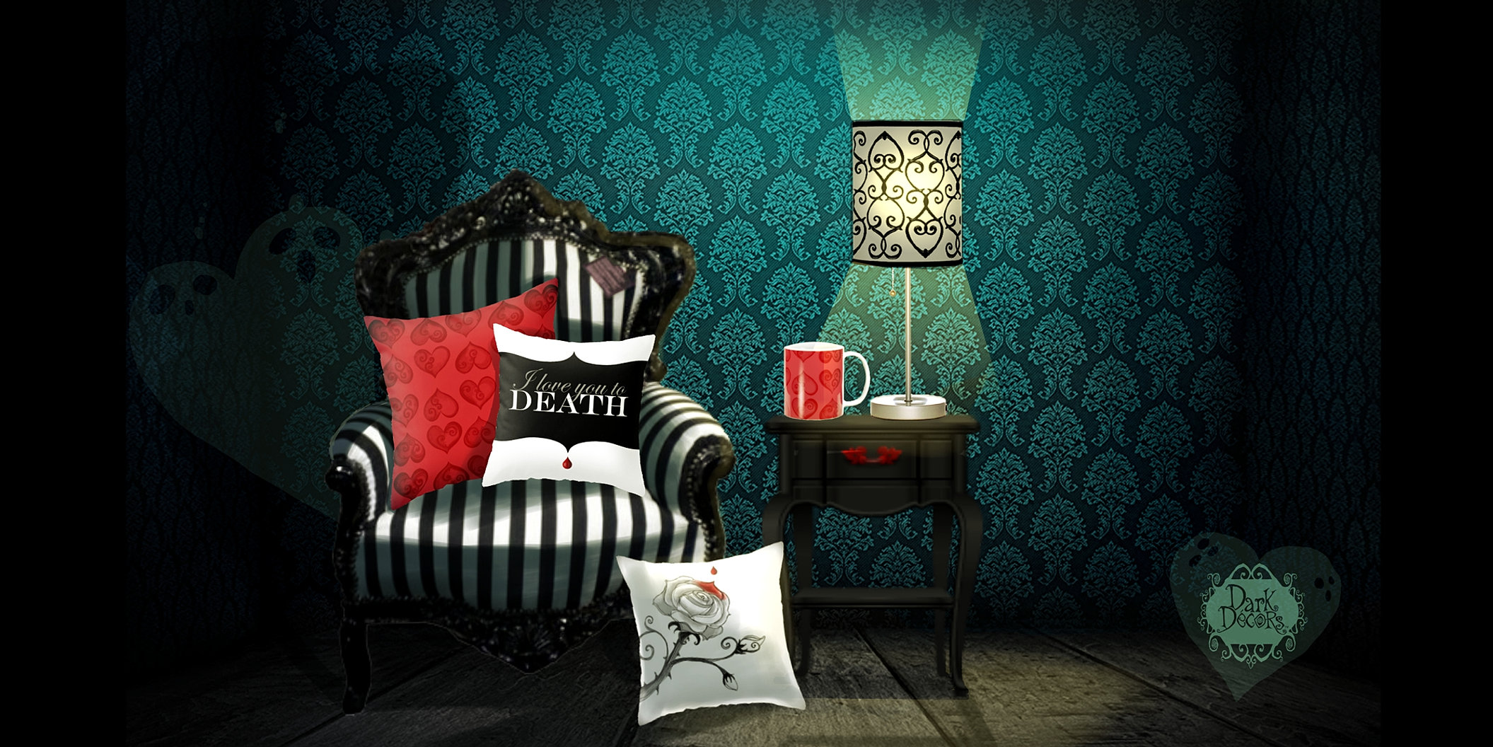 Dark decors gothic home decor for Gothic decorations home