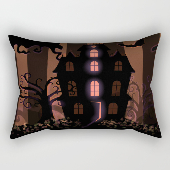 Rectangle Pillow - Be it ever so Haunted