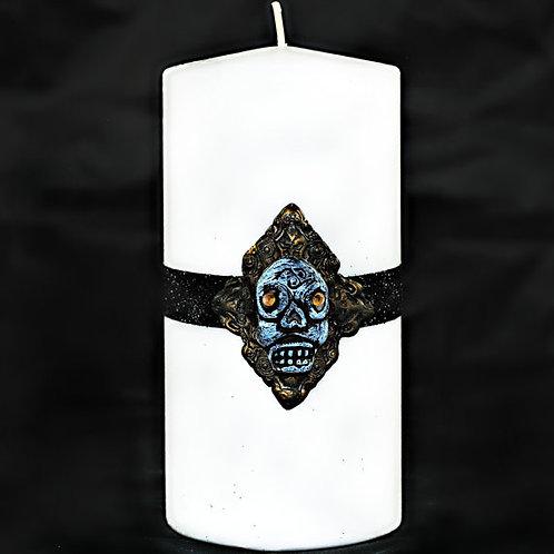 Skull Gothic Style Pillar Candle