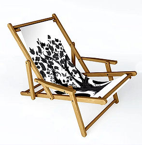 Sling chair, outdoor furniture, darkdeco