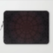 laptop sleeve, pure evil pansies, dark d