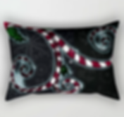 rectangle pillow, candy cane vine, swirl