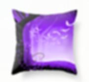 throw pillow home decor halloween black