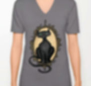 v-neck tshirt, dark grey, familiar in fr