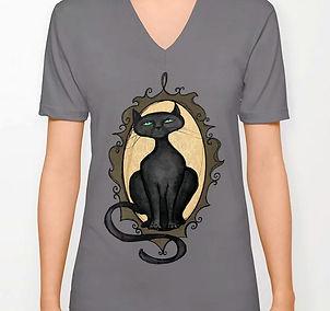 v-neck tshirt, dark grey, familiar in fr