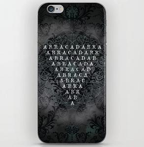 Iphone skin, magical, dark decors, abrac