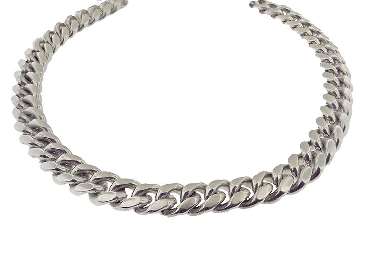 Sterling Silver Solid Cuban Curb link Chain