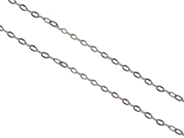 14KT white gold Rolo link Chain 20""