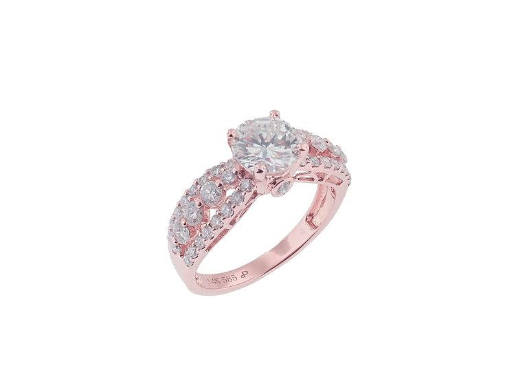 14KT rose gold Diamond Engagement Ring