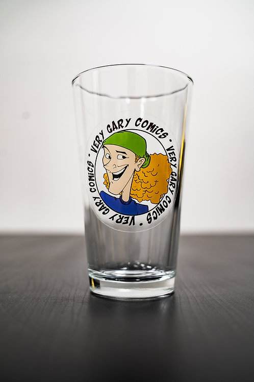 Very Gary Comics Pint Glass