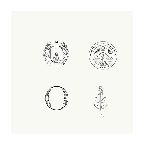 Pre made scottish logo, whisky logo, gin logo, crest logo, dryad logo, highlands