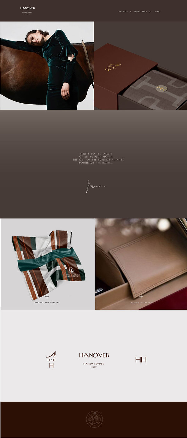 site design for leather brand. luxury site Design.