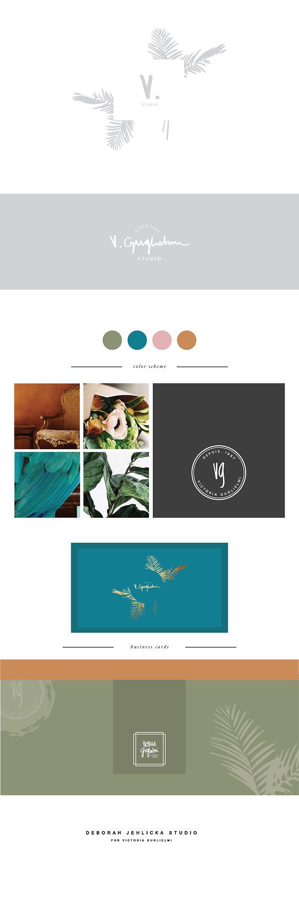 Bold colors,gold foil, watercolors, palm motif, handwritten