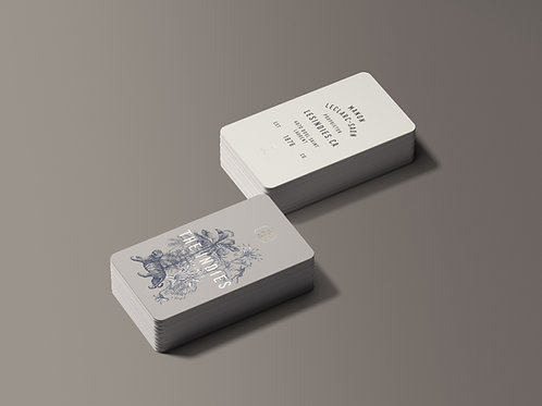 BUSINESS CARD TEMPLATE + PREMADE LOGO- THE INDIES