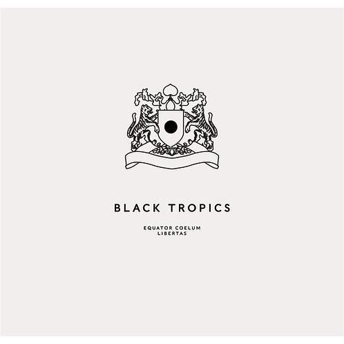 Black Tropics Logo design. Pre-Made tiger crest logo