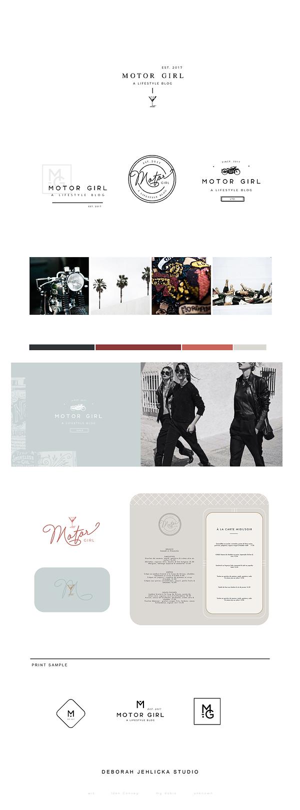 Motorcycle + lifestyle Blog Brand design