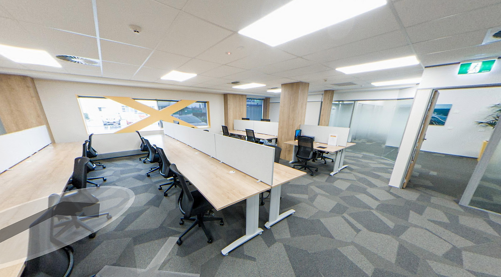 Coworking facilities with link to 360 degree view