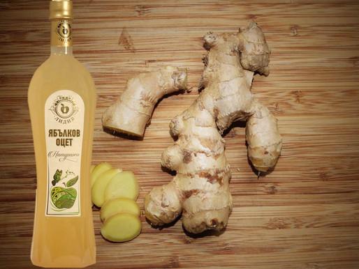 Ябълков оцет и джинджифил при синузит