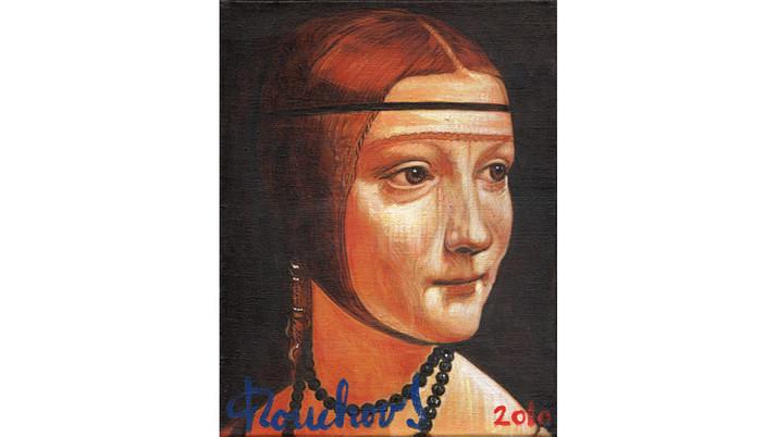 LEONARD DE VINCI (1452-1519) - La Dame à l'hermine