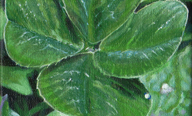 Treffle à 4 feuilles-2011-22x16cm.jpg