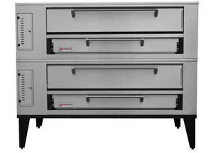 """Marsal SD-660 STACKED 60"""" Commercial Gas Pizza Oven Double Deck 7"""" Doors"""