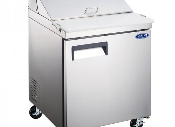 "27"" COMMERCIAL REFRIGERATED SANDWICH PREP TABLE COOLER"