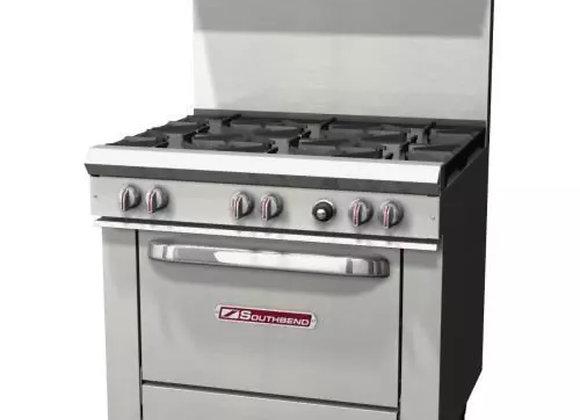 "Southbend S36D Commercial 36"" 6 burner gas restaurant standard duty range"