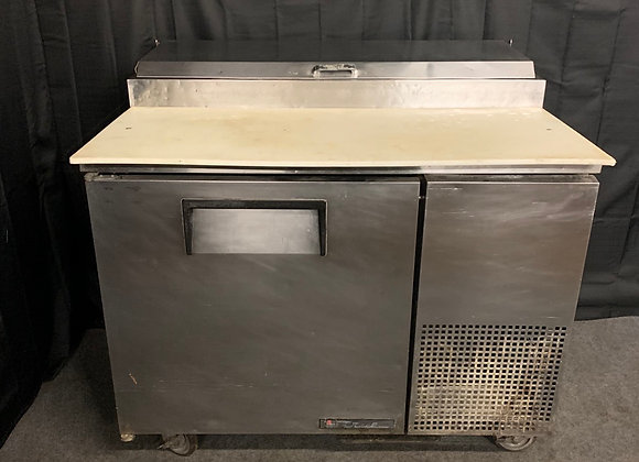 "TRUE TPP-44 USED 44"" COMMERCIAL PIZZA PREP COOLER REFEIGERATOR"